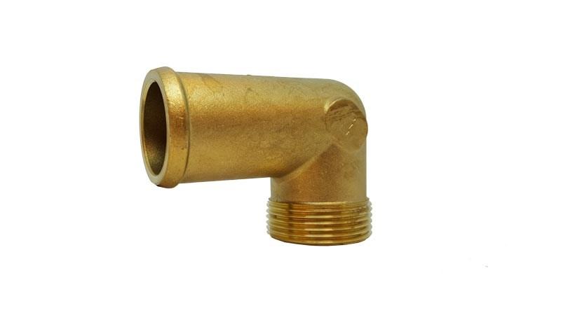 Slangnippel 90° 1 1/4 tum   38mm