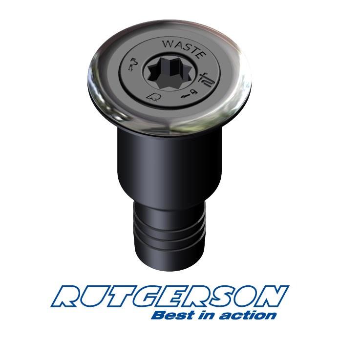 Däcksförskruvning Waste 38mm ISO komposit