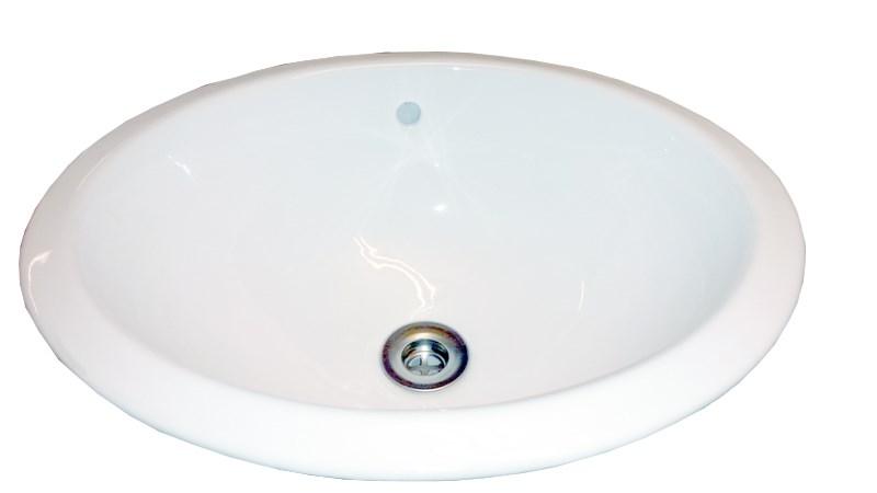Tvättställ ovalt, porslin