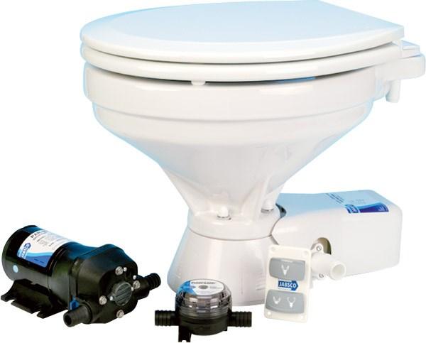 Toalett Jabsco 12V Quiet Flush, Stor skål