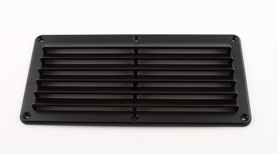 Ventilgaller svart 260x125mm, skruvhål 5.5mm