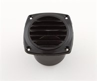 Ventilgaller plast svart 85x85mm