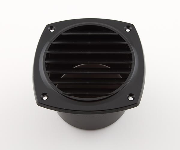 Ventilgaller plast svart 125x125mm