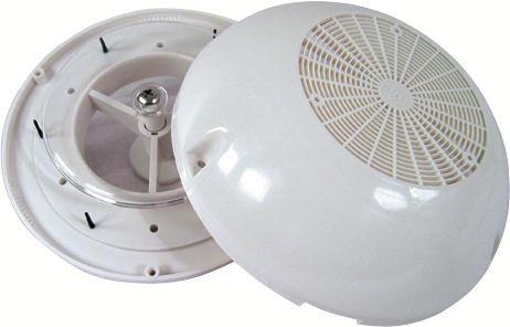 Ventilator, vit plastkåpa