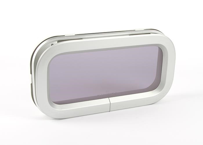 Portlight size 1 rökfärgat glas