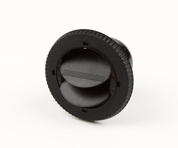 Inblåsningsventil 75mm svart