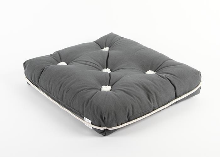 Båtkudde grå enkel