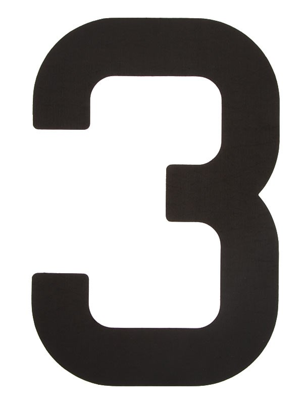 Segelsiffra 3, 38cm