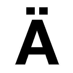 Reg-bokstav Ä 45mm Svart