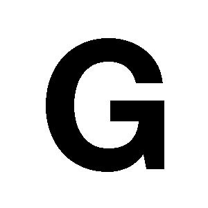 Reg-bokstav G 60mm Svart