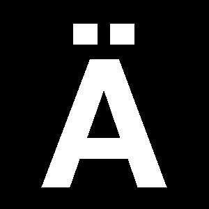 Reg-bokstav Ä 45mm Vit