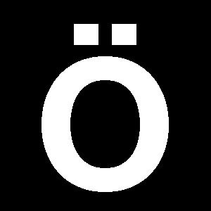 Reg-bokstav Ö 45mm Vit