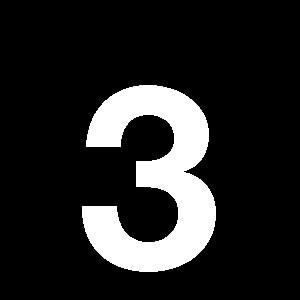 Reg-siffra 3 45mm Vit