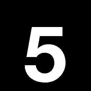 Reg-siffra 5 45mm Vit