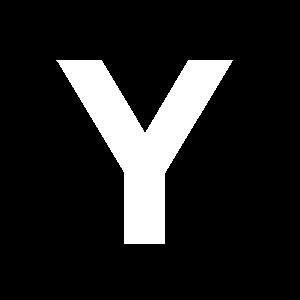 Reg-bokstav Y 45mm Vit