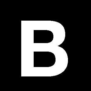 Reg-bokstav B 60mm Vit