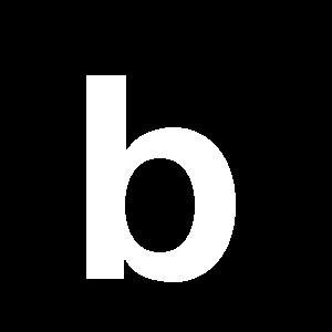Reg-bokstav b 90mm Vit