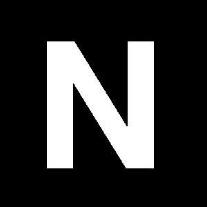 Reg-bokstav N 90mm Vit