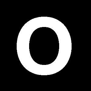 Reg-bokstav O 90mm Vit