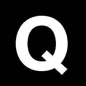 Reg-bokstav Q 90mm Vit