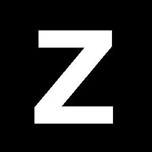 Reg-bokstav Z 90mm Vit