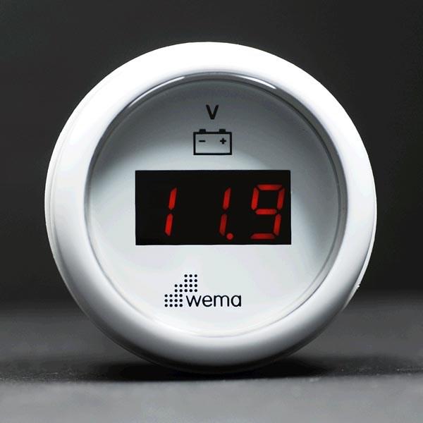 Voltmätare Wema digital vit