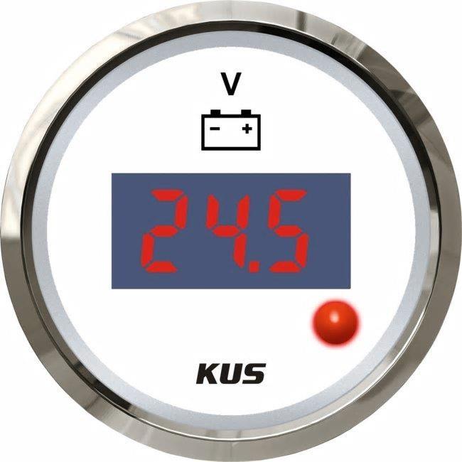 KUS Voltmätare digital vit 8-32V