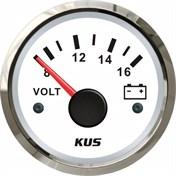 KUS Voltmätare Vit 8-16V