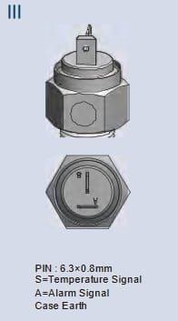 KUS Temperaturgivare 2-stift