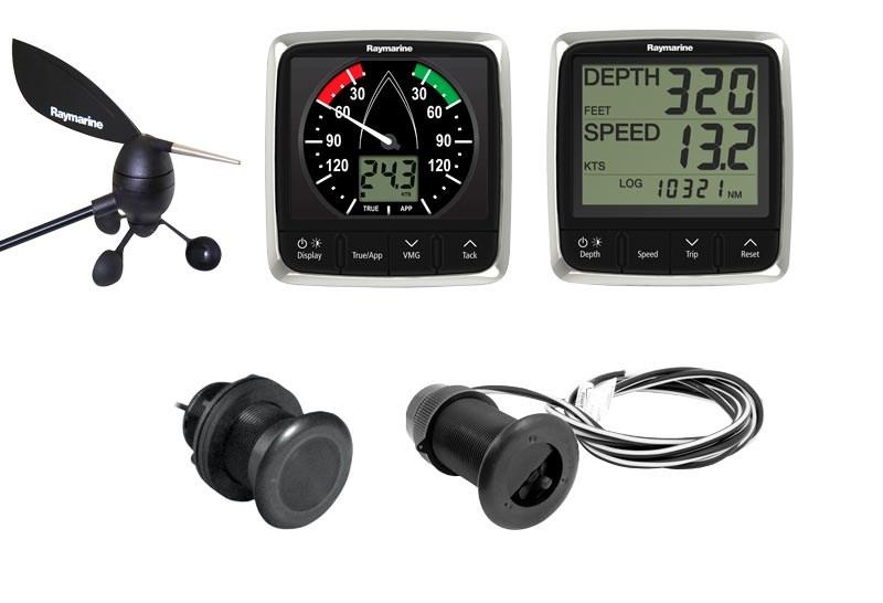 Raymarine i50 + i60 fart/djup/vind system
