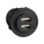 USB-Uttag >5A Svart