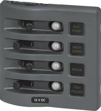 Autosäkringspanel WD 4-pol grå
