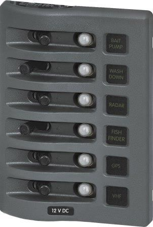 Autosäkringspanel WD 6-pol grå