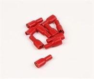 Flatstiftshylsa röd isolerad 10st