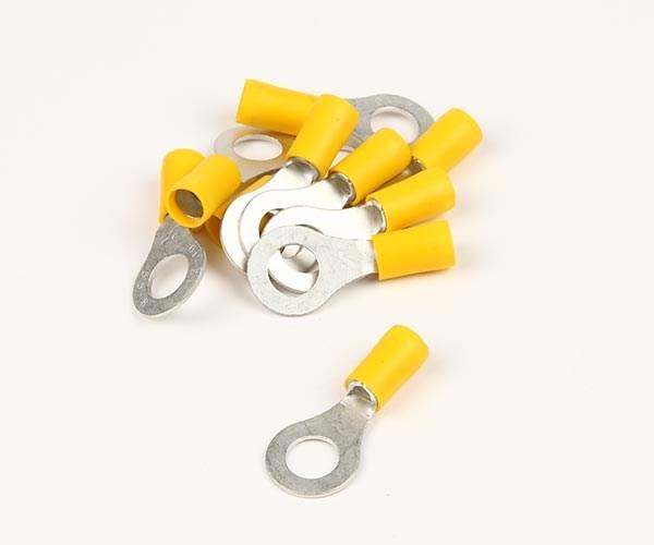 Ringkabelsko gul 6,5mm 10st