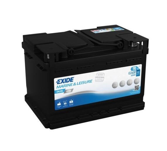 Batteri Tudor Exide Dual EFB 70Ah