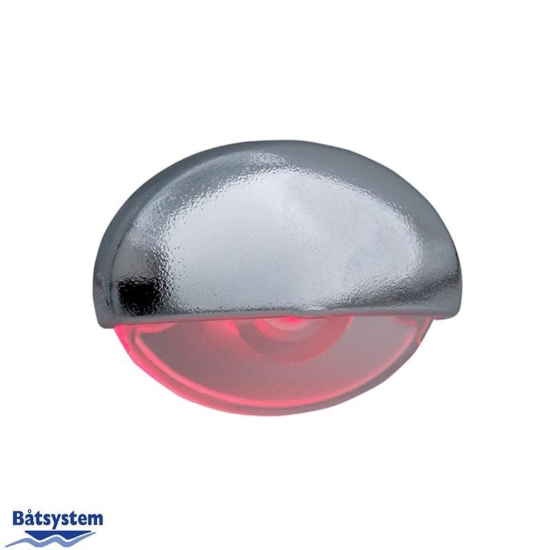 Båtsystem Steplight LED KROM rött ljus
