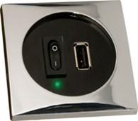 Båtsystem USB-uttag mattsilver