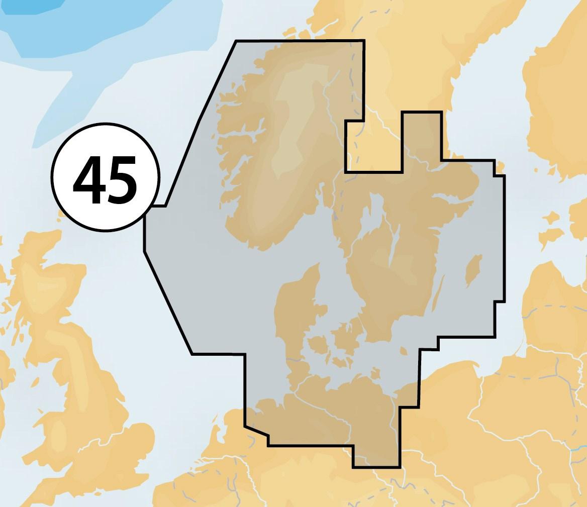 Navionics+ mSD/SD 45XG Västkusten-Danmark