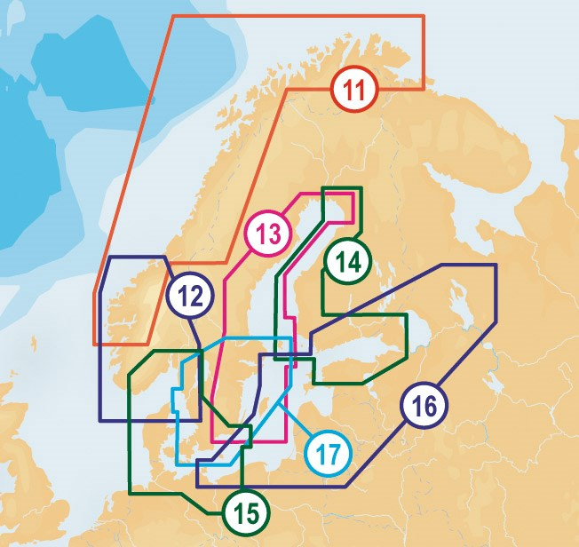 Navionics Platinum+ Södra Norge, Skagerack