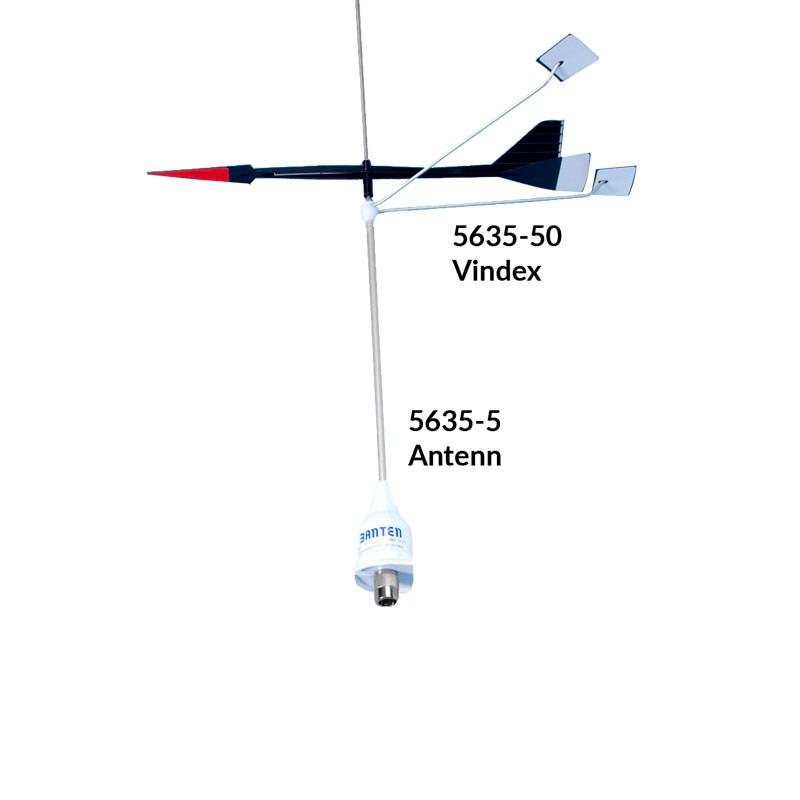 VHF antenn stålspröt Banten FME-kontakt