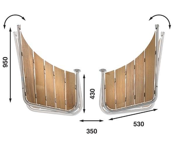 Båtsystem Badplattform snipa PS55/1408