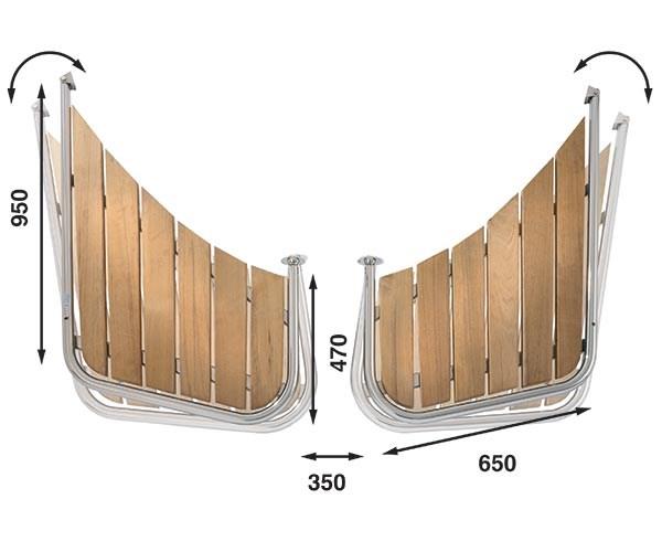 Båtsystem Badplattform snipa PS65