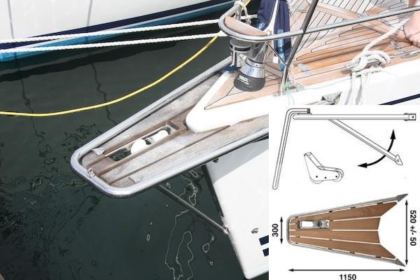 Båtsystem gennakerpeke med ankarrulle GPAT100