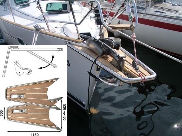 Båtsystem gennakerpeke med ankarrulle PT10044
