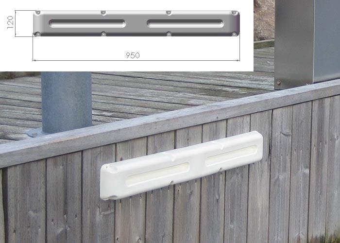 Bryggfender list vit 93x12cm