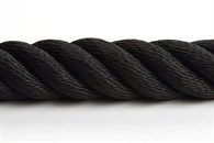 Trappräckslina syntet 24mm svart 4-slagen