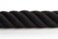 Trappräckslina syntet 36mm svart 3-slagen