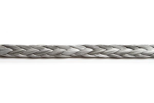 Dyneema 100% 4mm grå 12-flätad