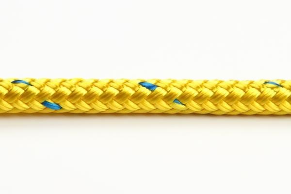Braid Colour 12mm gul 16-flätad